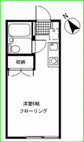 サニーコート松見Ⅱ・105号室の間取り