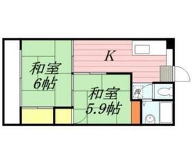 パピヨン渓北・0106号室の間取り