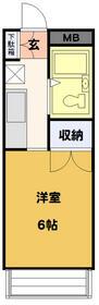 HOSOI-'93・106号室の間取り
