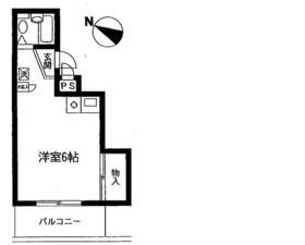 カーサ新井・206号室の間取り