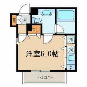 メルローズプレイス下北沢・3301号室の間取り