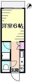 鈴木ハイツ・103号室の間取り