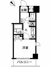 スカイコート富士見台・703号室の間取り