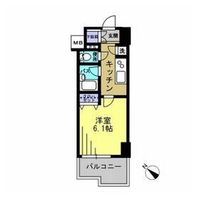 エスティメゾン川崎Ⅱ・0705号室の間取り