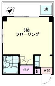 パークサイドマンション・102号室の間取り