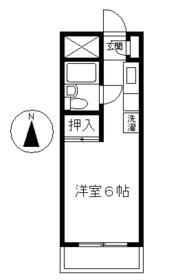 コーポ川添・403号室の間取り