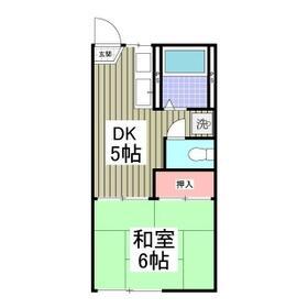 和田アパート・105号室の間取り