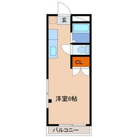 ヒロ大巌寺・305号室の間取り