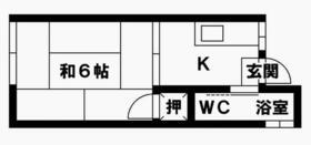 ヤマトコーポ・202号室の間取り