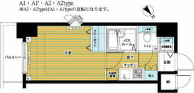 トーシンフェニックス日本橋EAST・1001号室の間取り