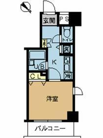 スカイコート富士見台・603号室の間取り