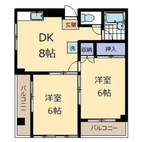 第二萩山コーポ・202号室の間取り
