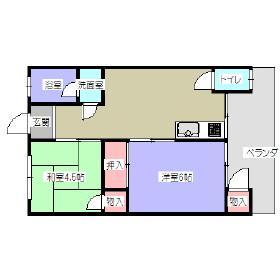第2清水ハウス・102号室の間取り