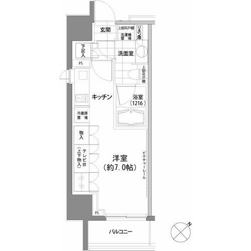 パークハビオ渋谷・1407号室の間取り