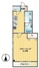 ボヌール笹塚・402号室の間取り
