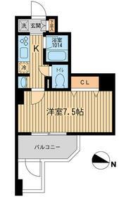 KDXレジデンス幡ヶ谷・1101号室の間取り