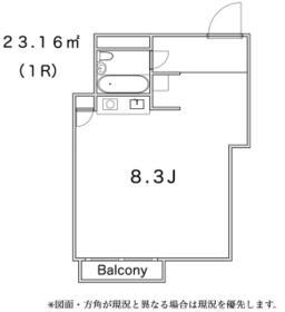 パラシオン高輪・511号室の間取り