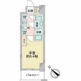 アステリ鶴舞テーセラ・1104号室の間取り