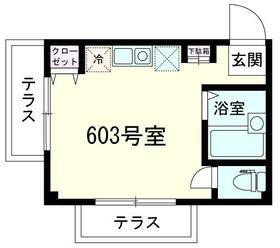 ダイヤモンドレジデンス西神田・603号室の間取り