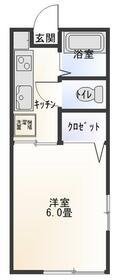 サクセスオオツカB棟・206号室の間取り