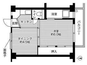 ビレッジハウス高田4号棟・0409号室の間取り