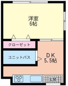 コーポキネマ 東蒲田・201号室の間取り