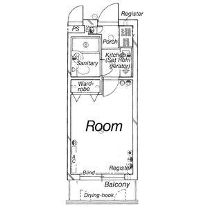 DETOM-1東福寺・405号室の間取り