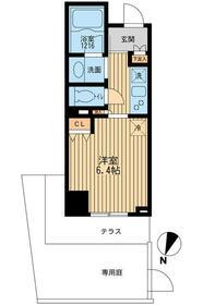 クリオ上野毛ラ・モード・0106号室の間取り