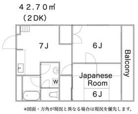 グレースマンション・202号室の間取り