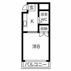 プレアール箕面粟生・204号室の間取り