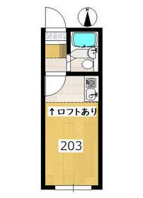 レオパレス南生田・203号室の間取り