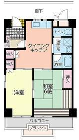 メゾン桜・504号室の間取り