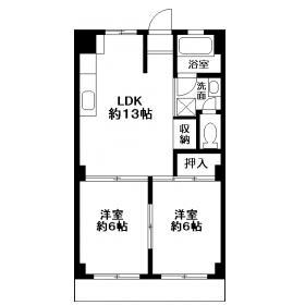 横浜ハイツ・5-C号室の間取り