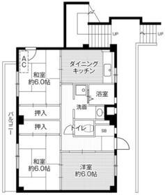 ビレッジハウス下九沢5号棟・0205号室の間取り