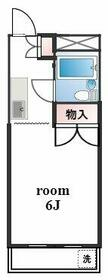 リスタ所沢・301号室の間取り