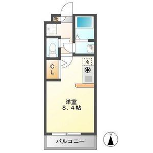 ハーモニーハウス今宿東・203号室の間取り