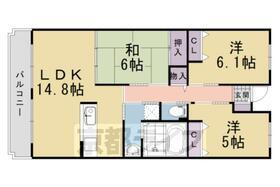 ソレイユ大山崎・201号室の間取り