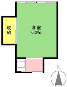 本沢荘・5号室の間取り