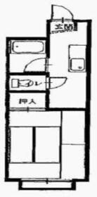 ジェーケーハイツ川尻・308号室の間取り
