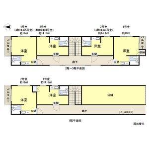 青山ハイツ淡路・302号室の間取り