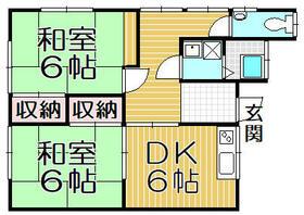 吉村アパート・202号室の間取り