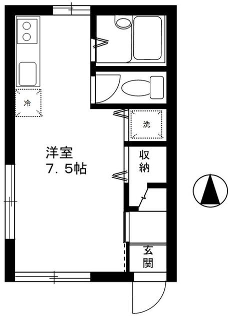 ソレイユ川崎・101号室の間取り