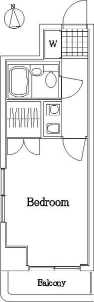 東日本橋フラワーハイホーム・301号室の間取り
