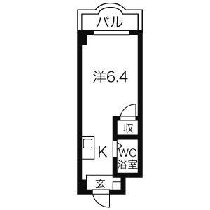 クレールショーワIII・1E号室の間取り