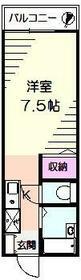 東戸塚ヒルズ・102号室の間取り