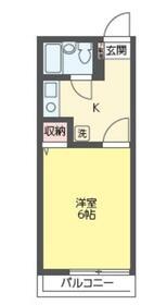 クオーレ成増・202号室の間取り