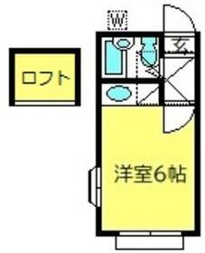 ルボランハイツ・206号室の間取り