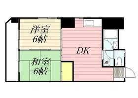パピヨン渓北・0107号室の間取り