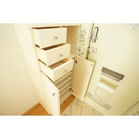 山仁ハイツ 205号室の玄関