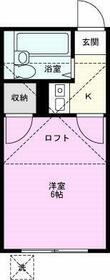 メゾン新井宿・103号室の間取り